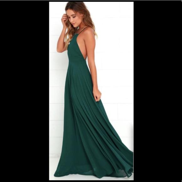 a90a79eb0e7a6 Lulu's Dresses & Skirts - MYTHICAL KIND OF LOVE DARK GREEN MAXI DRESS LULUS